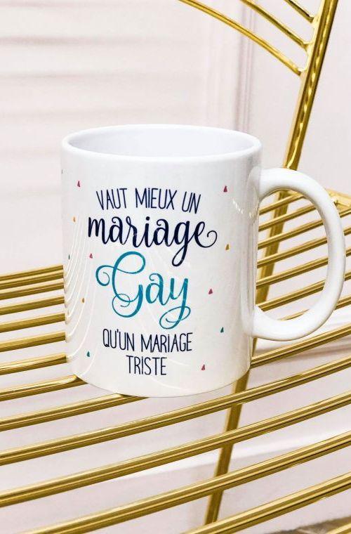 Triste Mariage Mieux Mug Gay Inscription Vaut Un Qu'un R3qc54ALjS