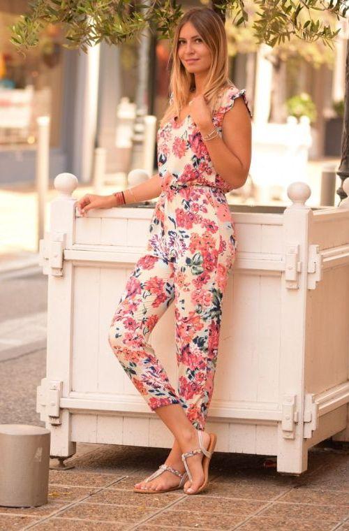 Niky Pants Jumpsuit estampado floral Amplio KlTFJ5u1c3