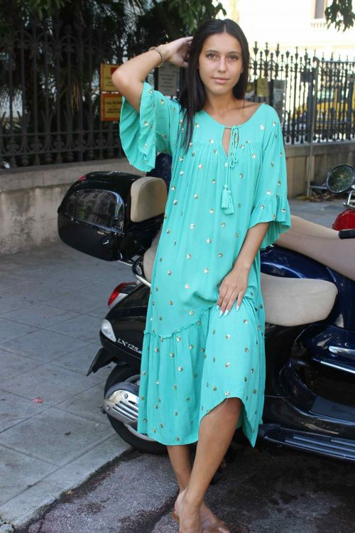 1d1c8cfc8fb50 Mimi - robe longue à pois sequins